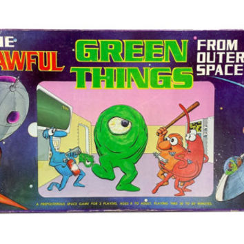 The Awful Green Things from Outer Space Board Game 1980s Vintage COMPLETE, Retro 80s Games Space Monsters AGTFOS TSR Spaceship Znutar Aliens
