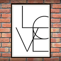 Love Word Art, Wall Words, Love Sign, Love Letters, love quotes wall art, love quote print, gift for boyfriend, valentines day gift *37*