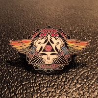 Wings Spread Bright 2.0 Silver Plated Grateful Dead Hat Pins Limited edition of 100