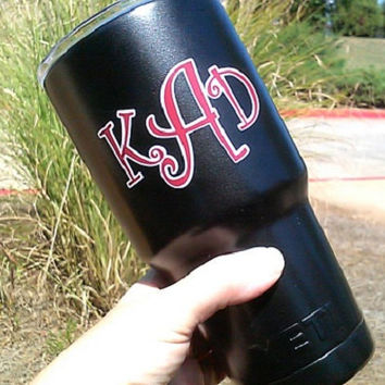 Yeti Cup-Powder Coat Yeti-Monogram Cup-Personalized Cup