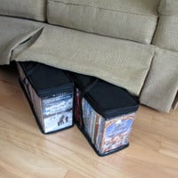Evelots 2 DVD Blue-ray Media Storage Case Bags Hold up to 72 DVDs (36 Each Bag)