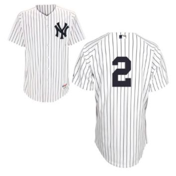 KUYOU New York Yankees Jersey - Derek Jeter White Throwback Jersey