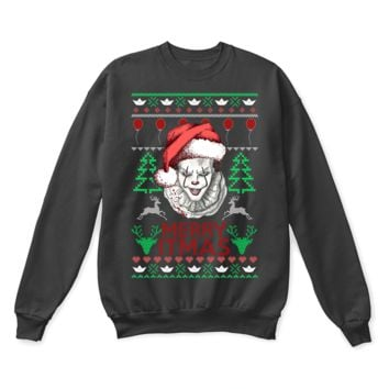 PEAPINY IT Pennywise Merry ITmas Stephen King Ugly Christmas Sweater