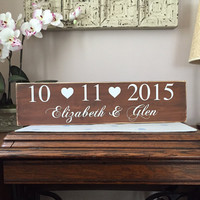 Family Established Sign, Wedding Gift, Shower Gift, Bridal Gift, Custom, Anniversary, Couple, Marriage, Simply Fontastic,