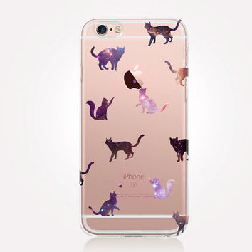 Transparent Star Cats iPhone Case - Transparent Case - Clear Case - Transparent iPhone 6 - Transparent iPhone 5 - Transparent iPhone 4