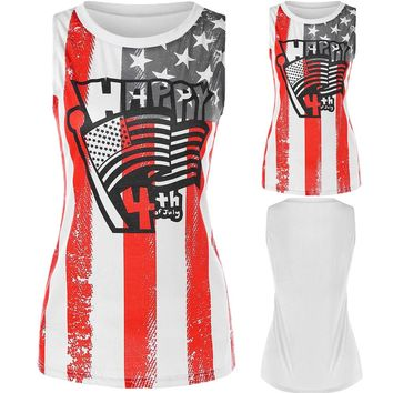 Happy 4th Of July - American Flag - Women's Tank Top