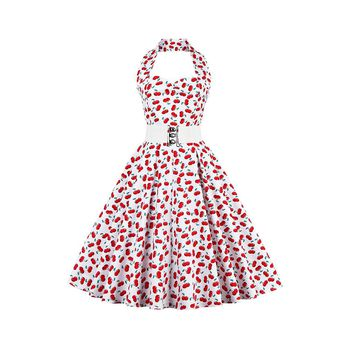 Chicloth If New Favorite Delicious Cherry Halter Dress