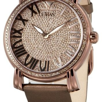 Le Vian ZAG 102 Medallion Chocolate Diamond Pave Watch