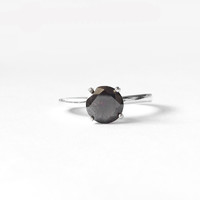 Melody - Deep Chocolate Black Diamond in your choice of metal - 1.5 carat