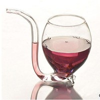 Superior  NoWine or Whiskey Drinking Wineglass Cup With Straw