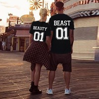 Beauty and The Beast Couples T-Shirts