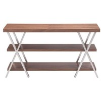 ZUO Modern Renmen Tv Stand Walnut 100558 Living Storage