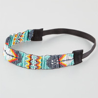 Full Tilt Tribal Seed Bead Headband Mint One Size For Women 26085952301