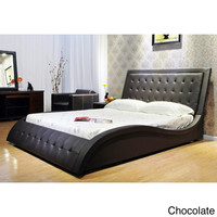 Eastern King Wave-like Shape Upholstered Bed