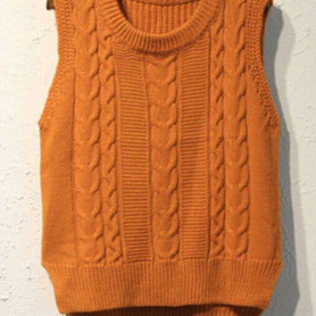 Sleeveless Knit Vest Top
