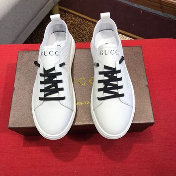 Gucci White Men Fashion Casual Sneakers Sport Shoes Size 38-44