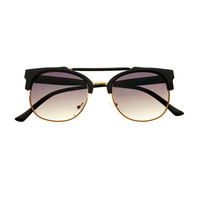 Metal Top Bar Retro Fashion Style Round Sunglasses R1320