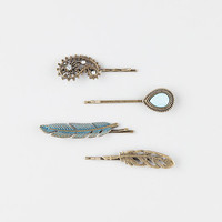 FULL TILT 4 Piece Feather Hair Clips | Hair Accessories BOGO Free