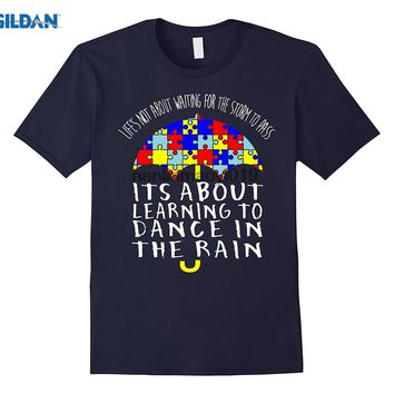 GILDAN LIFE NOT ABOUT WAITING FOR THE  TO PASS  AUTISM SHIRT