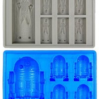 Star Wars Han Solo In Carbonite & R2-D2 Silicon Ice Cube Tray Set Of 2