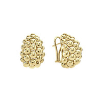 Lagos Bold Caviar Large 18K Gold Huggie Earrings