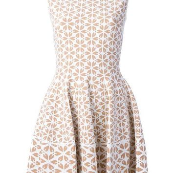ICIKIN3 Alexander McQueen embossed cut out floral dress