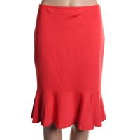 St John Womens Wool Knee-Length Knit Skirt