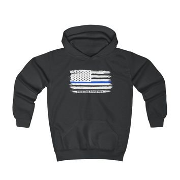 Thin Blue Line Flag Youth Hoodie