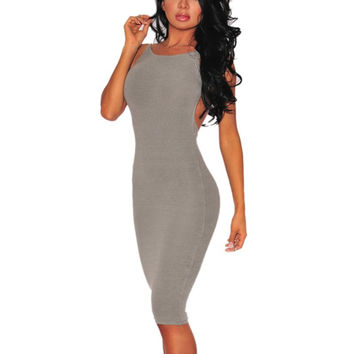 Sexy Women Spaghetti Strap Bandage Dress Vestidos Bodycon Mini Club Dress Rayon Sheath Dresses Hot Selling
