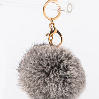 Cotton Fuzz Keychain