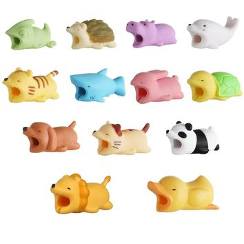 Cable Protector for iPhone Cable Charger USB Cable Winder Holder Accessory Organizer Cute Animal Doll Model Funny