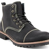 Ferro Aldo Men's 506019F Ankle High Cap Toe Fleece Lined Combat Boots