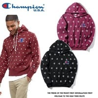 Embroidery Hoodies Print Couple Jacket [17370546195]