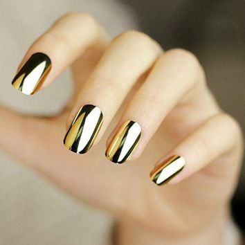 2pcs Gold Or Silver Nail Art Decorations Sticker Patch Foils Armour Stickers Cool Nail Stickers For Nails Beauty