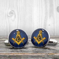 Cufflinks - FREEMASONRY logo -  Cool gift idea