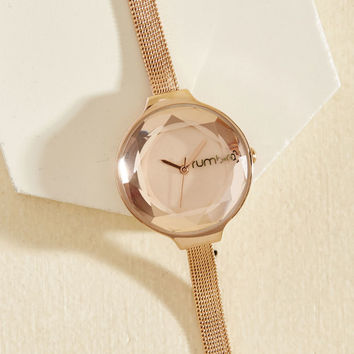 The Bevel Is in the Details Watch in Rose Gold