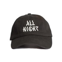 ALL NIGHT Embroidered  Cap