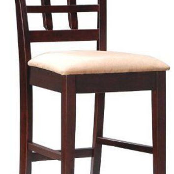 Counter Height Bar Stools with Back Pub Table Dining Furniture Chair Wood Room