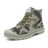 Men Casual Shoes Ankle Military  Tactical Combat Lace-Up