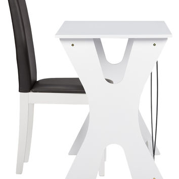 Design Studios Baxton Studio Cary Writing Desk and Chair Set (2 PC) - White