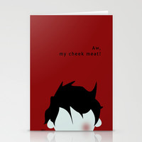 Aw, My Cheek Meat Stationery Cards by PFKimmerle