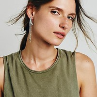 Free People Womens Crescent Drop Earrings