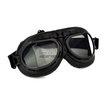 Bjmoto Drop shipping For Harley Motorcycle Goggles Open Face Helmets Aviator Flying Pilot Steampunk Punk Goggles glasses