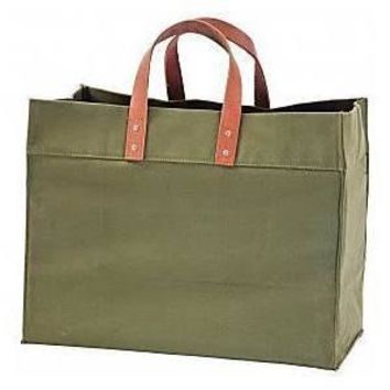 Monogrammed Large Utility Tote Bag Personalized Beach Embroidered Monogram Name OLIVE