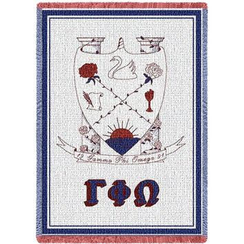 GAMMA PHI OMEGA AFGHAN THROW BLANKET
