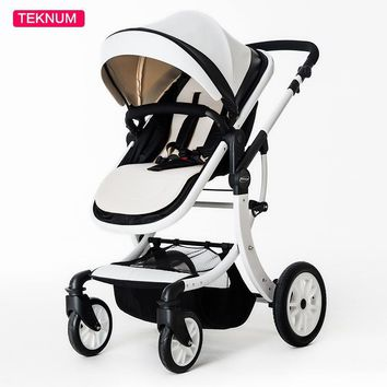Teknum baby stroller can sit flat lying high landscape folding baby children newborn baby stroller baby car