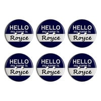 Royce Hello My Name Is Plastic Resin Button Set of 6