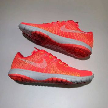 NIKE FLEX FURY Women Casual Running Sport Shoes Sneakers Orange G-A-SPMY