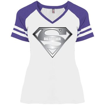 Super Big Brother T-Shirt, Male Sibling Son Tee Shirt-01 DM476 Disctrict Ladies' Game V-Neck T-Shirt