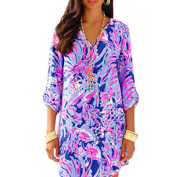 ARIELLE TUNIC DRESS - IRIS BLUE SHRIMPLY CHIC by Lilly Pulitzer available from Ocean Palm